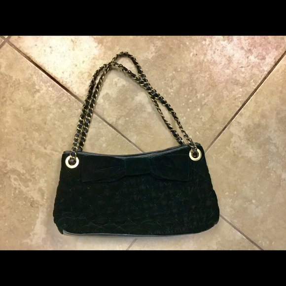 Moschino Handbags - Moschino cheap&chic deep green velvet quilted bag